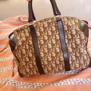 Dior oblique satchel brown vintage
